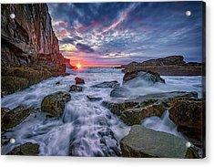 Sunrise At Bald Head Cliff Acrylic Print by Rick Berk