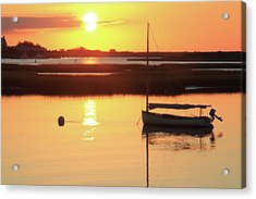 Sunrise At Bass River Acrylic Print by Roupen  Baker