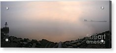Acrylic Print featuring the photograph Sunrise At Bug Light. by David Bishop