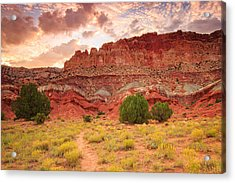 Sunrise At Capitol Reef. Acrylic Print
