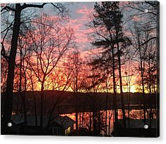 Sunrise At Carolina Trace Acrylic Print