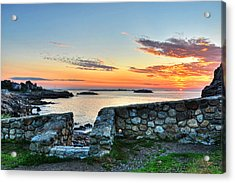 Sunrise At Castle Rock Marblehead Ma Acrylic Print