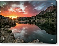 Sunrise At Cecret Lake Acrylic Print