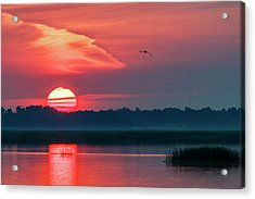 Acrylic Print featuring the photograph Sunrise At Cheyenne Bottoms 03 by Rob Graham