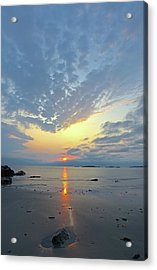 Acrylic Print featuring the photograph Sunrise At Cohasset Sandy Beach by Juergen Roth