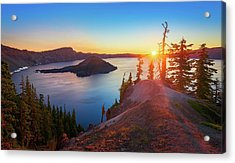 Sunrise At Crater Lake Acrylic Print