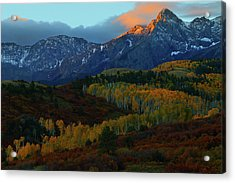 Acrylic Print featuring the photograph Sunrise At Dallas Divide During Autumn by Jetson Nguyen