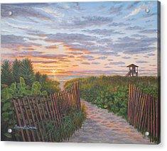 Sunrise At Delray Beach Acrylic Print by Bruce Dumas