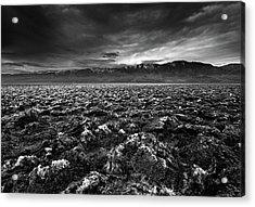 Sunrise At Devil's Golf Course, Death Valley, Deat Acrylic Print by David Kiene