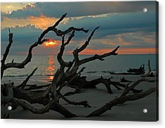 Sunrise At Driftwood Beach 2.2 Acrylic Print