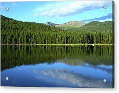 Acrylic Print featuring the photograph Sunrise At Echo Lake by Marie Leslie