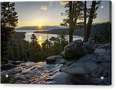 Sunrise At Emerald Bay In Lake Tahoe Acrylic Print