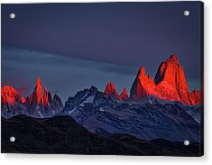 Sunrise At Fitz Roy #2 - Patagonia Acrylic Print