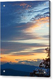 Sunrise At Flatrock Acrylic Print by Beebe  Barksdale-Bruner