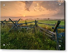 Sunrise At Gettysburg National Park Acrylic Print