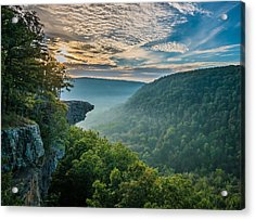 Sunrise At Hawksbill Crag Acrylic Print