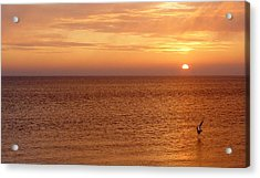 Sunrise At Helleruphavn Acrylic Print by Michael Canning