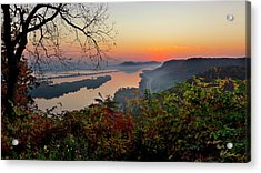 Sunrise At Homer, Mn Acrylic Print