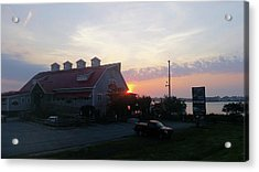 Sunrise At Hooper's Crab House Acrylic Print