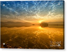 Sunrise At Jal Mahal Acrylic Print