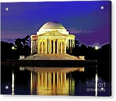 Sunrise At Jefferson Memorial Acrylic Print