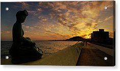 Sunrise At Jeju Island Acrylic Print by Ng Hock How