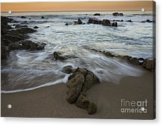 Sunrise At Laguna Beach Acrylic Print by Keith Kapple