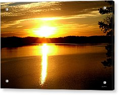 Sunrise At Lake Lanier 001 Acrylic Print by George Bostian