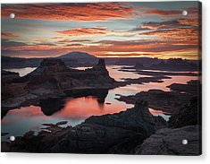 Sunrise At Lake Powell Acrylic Print