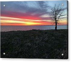 Sunrise At Lake Sakakawea Acrylic Print