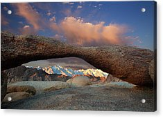 Sunrise At Lathe Arch Acrylic Print