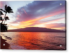 Sunrise At Ma'alaea Maui Acrylic Print