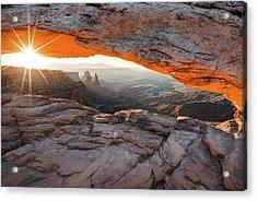 Sunrise At Mesa Arch - Canyonlands National Park Acrylic Print by Gregory Ballos