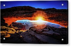 Sunrise At Mesa Arch Acrylic Print