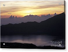 Sunrise At Mount Batur Bali Indonesia Acrylic Print by Gordon Wood