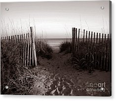 Sunrise At Myrtle Beach Sc Acrylic Print by Susanne Van Hulst