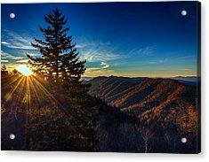 Sunrise At Newfound Gap Acrylic Print by Rick Berk