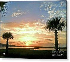 Acrylic Print featuring the photograph Sunrise At Ocean Isle by Kerri Farley