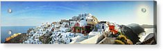 Sunrise At Oia Acrylic Print