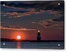 Sunrise At Orient Point Acrylic Print by Rick Berk
