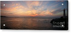 Acrylic Print featuring the photograph Sunrise At Portland Headlight by David Bishop