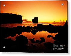 Sunrise At Puu Pehe Acrylic Print by Ron Dahlquist - Printscapes