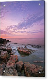 Sunrise At Seawall In Southwest Harbor Acrylic Print by Juergen Roth