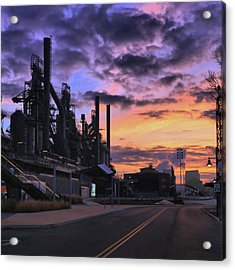 Acrylic Print featuring the photograph Sunrise At Steelstacks by DJ Florek