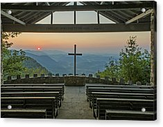 Sunrise At Symmes Chapel Aka Pretty Place  Greenville Sc Acrylic Print