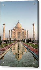 Sunrise At Taj Acrylic Print