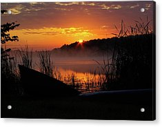 Sunrise At The Boat Launch Acrylic Print by Paul Wash