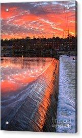 Sunrise At The Dam Acrylic Print by Robert Pearson