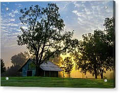 Sunrise At The Farm Acrylic Print by George Randy Bass