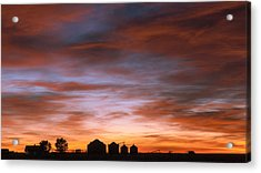 Sunrise At The Farm Acrylic Print by Monte Stevens